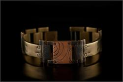 Small Copper Square Design WatchCraft (R) Handmade Bracelet (B14)