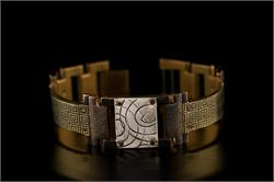 Brass Greek Design WatchCraft (R) Handmade Bracelet (B15)