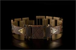Copper Textured Design in Narrow Band WatchCraft (R) Handmade Bracelet (B23)