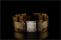 Brass Celtic Design in Narrow Band WatchCraft (R) Handmade Bracelet (B27)