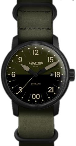 Lum-Tec Watch - Combat B - B37 24H Two Tone Face w/ 2 Straps - DISCONTINUED