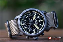 Lum-Tec Watch - Combat B - B44 Camo Chronograph w/ Two Heavy-Grade Military-Style Straps