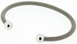 Q Ray - Orleans Mesh Series - Stainless Steel Cuff Bracelet (Q661)