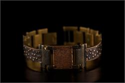Large Copper Square on Narrow Band WatchCraft (R) Handmade Bracelet (B69)
