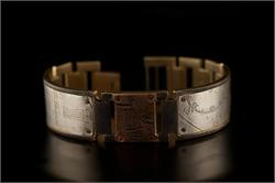 Copper Square Design on Wide Band WatchCraft (R) Handmade Bracelet (B76) - LIMITED STOCK