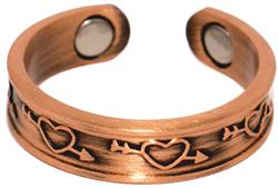 Love Struck Copper - Magnetic Therapy Ring (CCR-122)