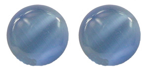 Steel Blue Cat Eye - Magnetic Therapy Earrings (ECE)