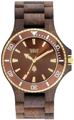 WeWood Wooden Watch - Date MB Choco Rough Brown