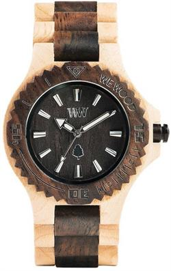 WeWood Wooden Watch - Date Beige Choco - LIMITED STOCK