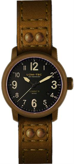 Lum-Tec Watch - Combat B - B18 Bronze Automatic Mens Military w/ 4 Straps - DISCONTINUED