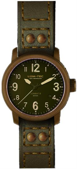 Lum-Tec Watch - Combat B - B19 Bronze Automatic Mens Military w/ 2 Straps - DISCONTINUED