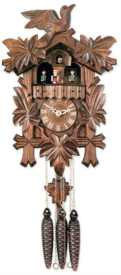 Carved Musical with Dancers Cuckoo Clock Made in Germany 2-Year Warranty
