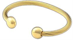 Q Ray - Deluxe Series - Gold Deluxe Cuff Bracelet (Q381)