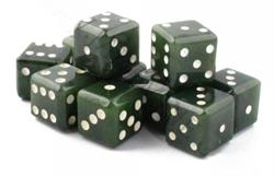 Genuine Natural Nephrite Jade Dice Sold Individually