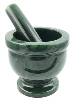 Genuine Natural Nephrite Jade Mortar and Pestle Stunning Beautiful Polish - SOLD