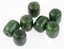 Genuine Natural Nephrite Jade Barrel Bead 18x15mm Sold Individually