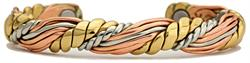 Honeysuckle - Sergio Lub Copper Magnetic Therapy Bracelet - Made in USA! (lub782)