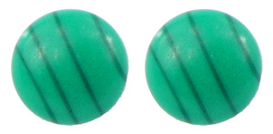Simulated Malachite - Magnetic Therapy Earrings (E708)