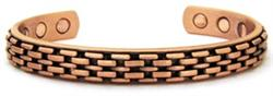 Bricks -  Solid Copper Magnetic Therapy Bracelet (MBG-040) - DISCONTINUED