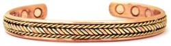 Tri Color Power -  Solid Copper Magnetic Therapy Bracelet (MBG-042) - DISCONTINUED