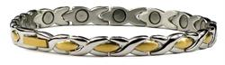 Inverse XOXO - Titanium Magnetic Therapy Bracelet (TT-40) - DISCONTINUED