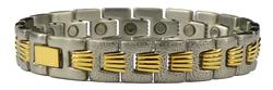 Jigsaw Combo - Stainless Steel Magnetic Therapy Bracelet (SS-57) - DISCONTINUED