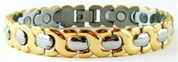 Golden Hugs  - Stainless Steel Magnetic Therapy Bracelet - DISCONTINUED