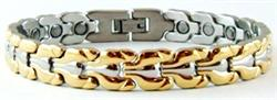 Golden Curves - Stainless Steel Magnetic Therapy Bracelet - DISCONTINUED