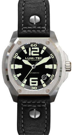 Lum-Tec Watch - V Series - V1 Automatic Mens w/ Black Leather
