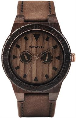 WeWood Wooden Watch - Leo Leather Chocolate