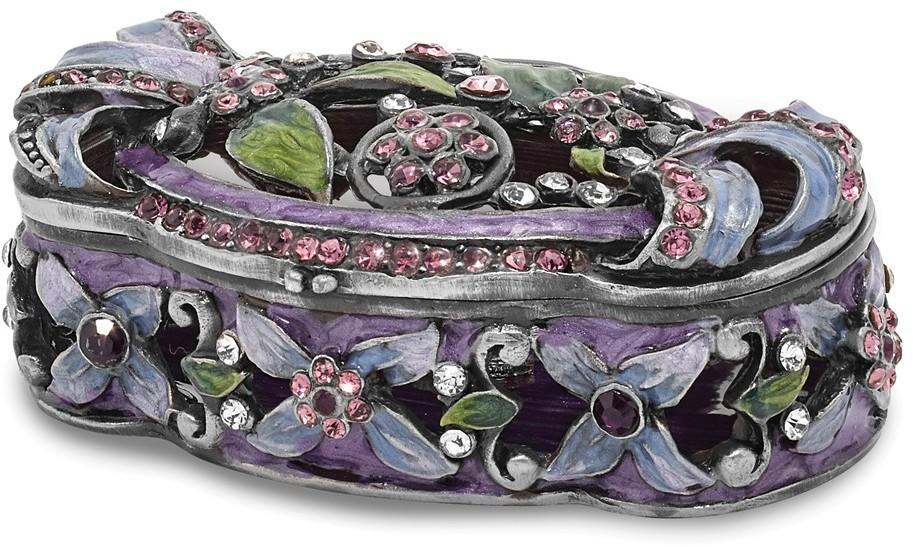 Bejeweled Secret Garden Trunk Trinket Box