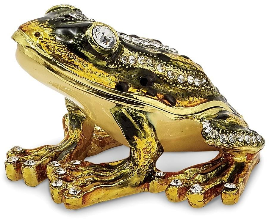 Bejeweled Jumping Frog Trinket Box
