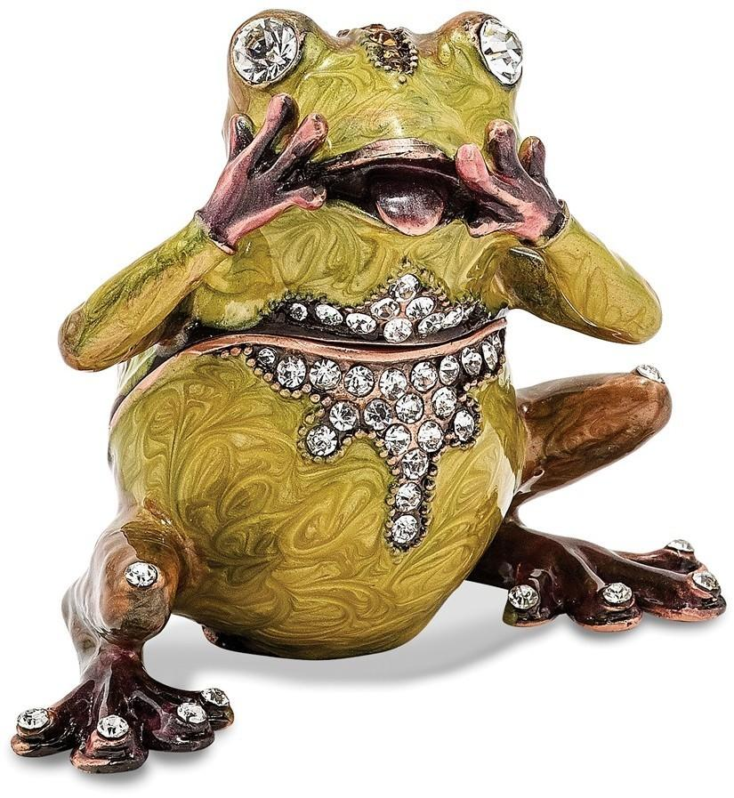 Bejeweled Oh My Frog Trinket Box