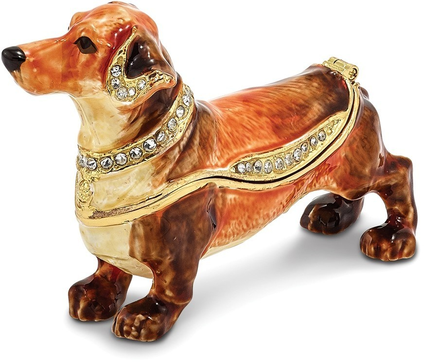 Bejeweled Dachshund Trinket Box