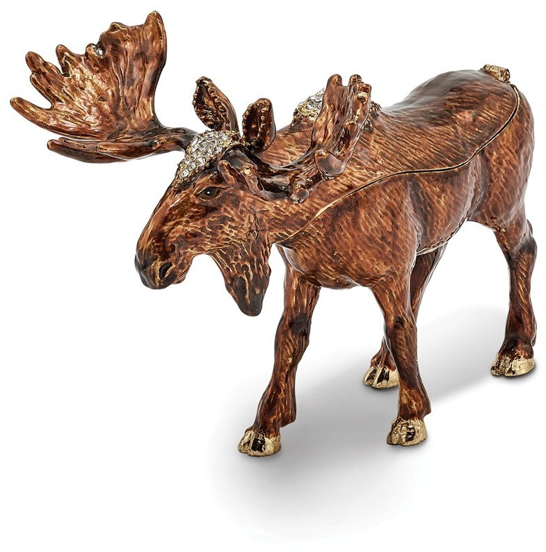 Bejeweled Moose Trinket Box