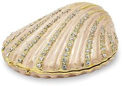 Bejeweled Clam Shell Trinket Box