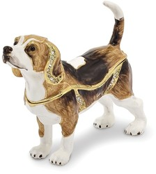 Bejeweled Beagle Dog Trinket Box