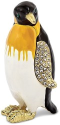 Bejeweled Marching Penguin Trinket Box