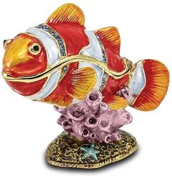 Bejeweled Clown Fish Trinket Box