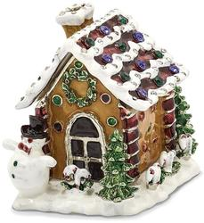 Bejeweled Gingerbread House Trinket Box