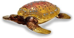Bejeweled Loggerhead Turtle Trinket Box