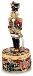 Bejeweled Nutcracker Trinket Box