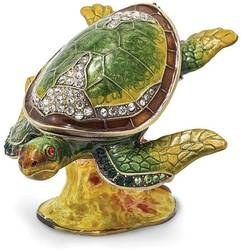 Bejeweled Reef Dweller Turtle Trinket Box