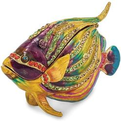Bejeweled Kaleidoscope Fish Trinket Box