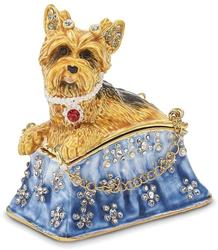 Bejeweled Twinkles Puppy Purse Trinket Box