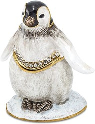 Bejeweled Baby Penguin Trinket Box