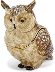 Bejeweled Hootie Owl Trinket Box