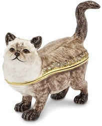 Bejeweled Himalayan Cat Trinket Box