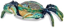 Bejeweled Blue Crab Trinket Box