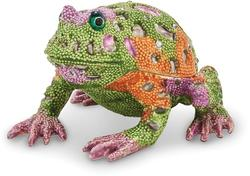 Bejeweled Psychedelic Frog Trinket Box